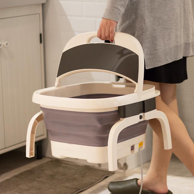 【让双脚享受SPA体验!】铭锐智能折叠足浴盆自动加热恒温泡脚盆 商品图2