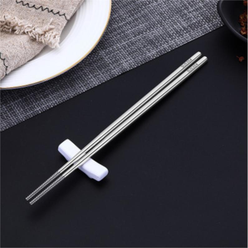 【精选】不锈钢中式筷子 | 德国品质 永不发霉 | 5-10双装【厨房用品】 商品图0