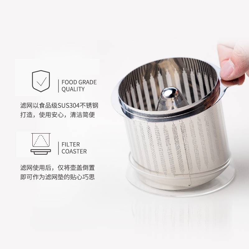 奇想生活手冲咖啡壶煮家用茶壶两用滴漏玻璃壶便携小型过滤壶 商品图2