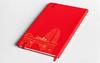 「权威 实力 源自人民」人民网烫金笔记本 人民红 黑色 B5简约皮面 商务笔记本 商品缩略图1