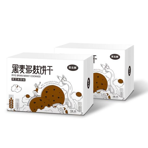 黑麦郎低GI饱腹代餐黑麦饼干 无糖精 孕妇零食 卡脂压缩 粗粮饼干520g /盒 商品图5