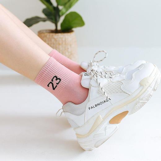 【5双】袜子女韩版中筒袜夏薄短袜船袜长筒袜子秋冬原宿风可爱 商品图1