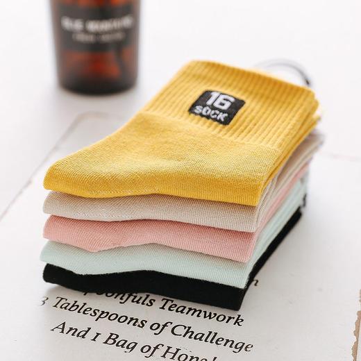 【5双】袜子女韩版中筒袜夏薄短袜船袜长筒袜子秋冬原宿风可爱 商品图2