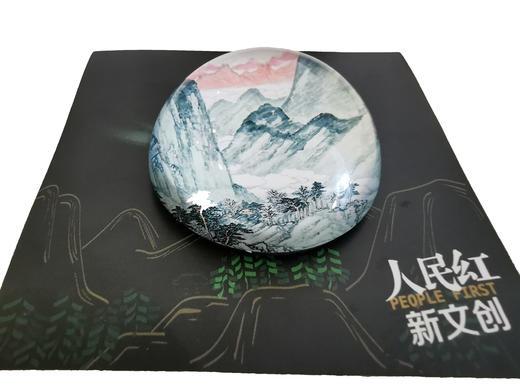 人民网独家版权「绿水青山」水晶磁铁冰箱贴 半球型质感创意 宛如画 商品图2