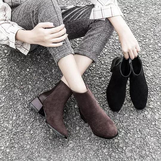 【女神的百搭弹力战靴】MRING 秋冬时尚女靴!腿粗、腿短都能救!透气超纤里,防滑橡胶底◆