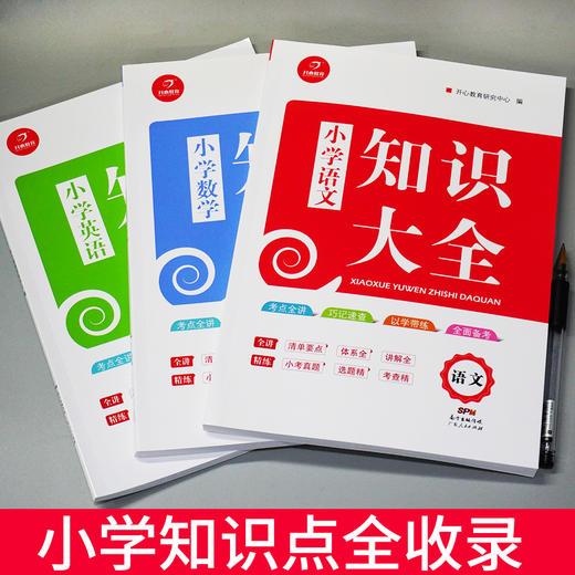 【开心图书】小学知识大全语文数学英语备考复习宝典全3册 商品图0