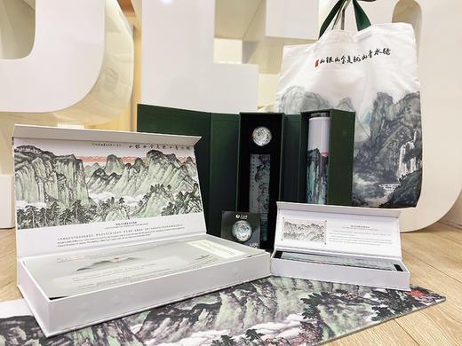 人民网独家版权「绿水青山」水晶磁铁冰箱贴 半球型质感创意 宛如画 商品图3