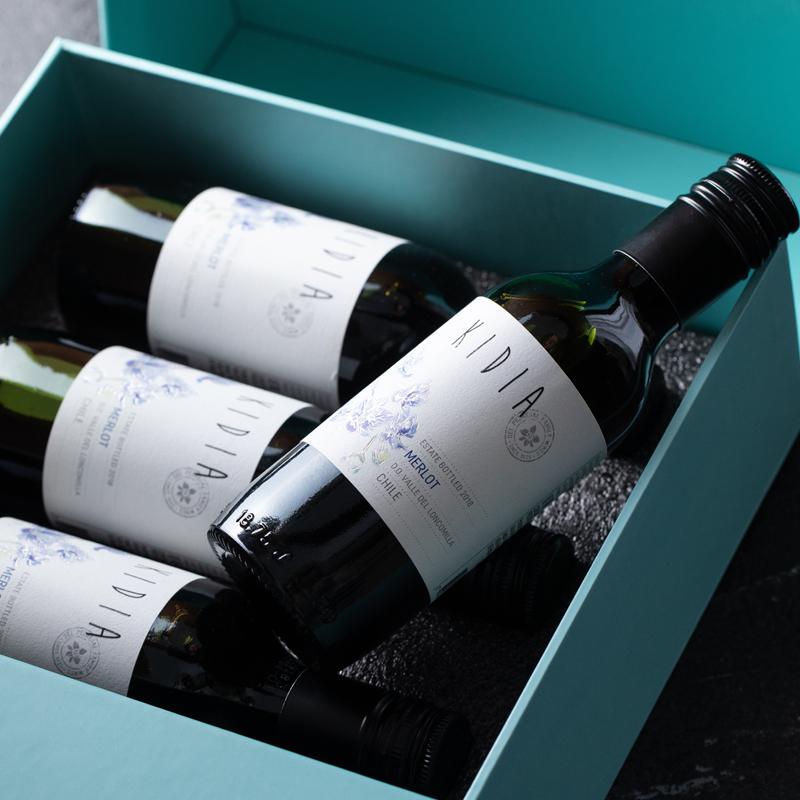 [迷你版梅洛干红 蒂芙尼蓝礼盒装]可以藏在口袋里的酒 智利蒂兰酒庄 187ml/瓶 6瓶装 商品图3