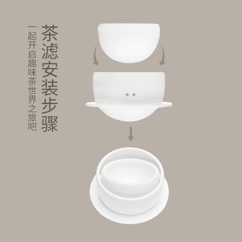 雅集 旅行茶具套装 便携式包一壶三杯快客杯 陶瓷功夫户外随身泡茶壶 商品图4