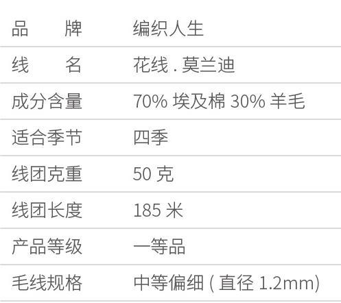 【花线莫兰迪】30%羊毛70%棉 手工编织毛线钩针棒针线 商品图4