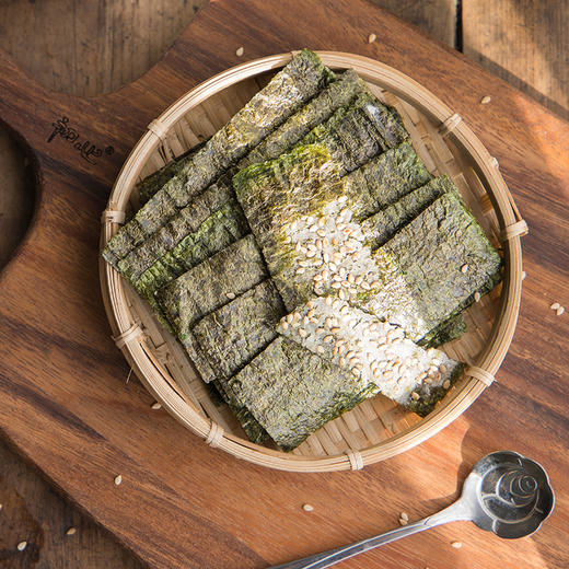 【买二送一,买五送三】芝麻夹心海苔脆 满口芝麻 鲜香海苔 层层酥脆 60g/罐 商品图2
