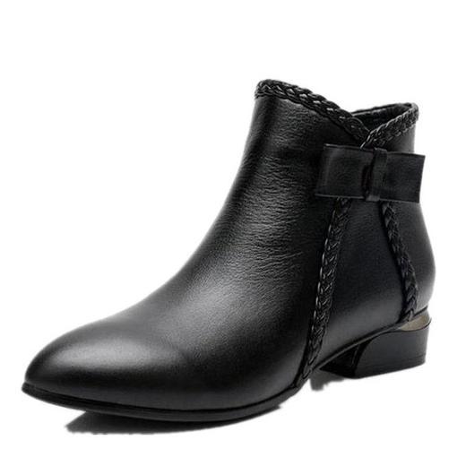 【清仓特价 不退不换】LN-A802新款欧美短靴侧拉链短筒马丁靴TZF 商品图4