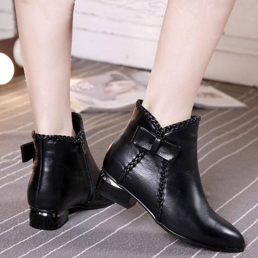 【清仓特价 不退不换】LN-A802新款欧美短靴侧拉链短筒马丁靴TZF 商品图2