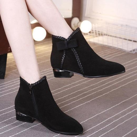 【清仓特价 不退不换】LN-A802新款欧美短靴侧拉链短筒马丁靴TZF 商品图0
