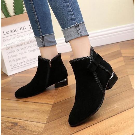 【清仓特价 不退不换】LN-A802新款欧美短靴侧拉链短筒马丁靴TZF 商品图1