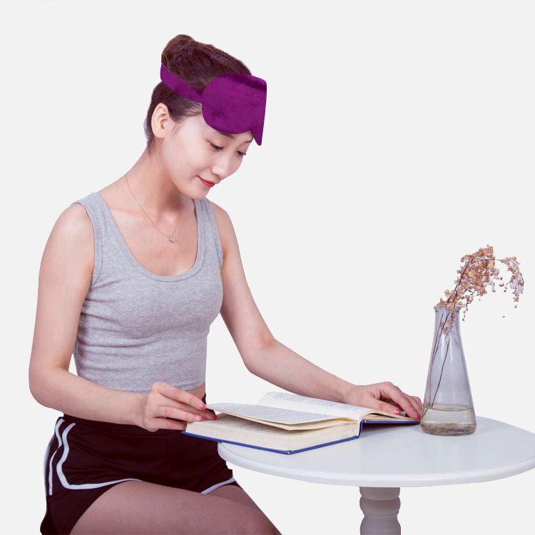 眼睛温敷艾绒眼罩 usb温热敷眼罩 电加热遮光护眼罩透气眼保健仪 商品图4