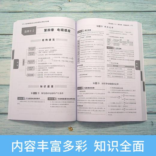 【开心图书】高中数理化生公式定理及必考知识全解 商品图2