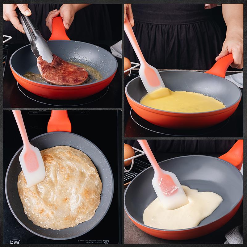 百钻不粘锅24cm 家用平底小煎锅 一锅多用 可煎可炒可烘焙做雪花酥牛轧糖 商品图4