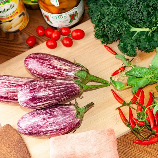 5斤装云南蔬菜花皮茄子 鲜嫩饱满 花色独特 云南特色产地现摘新鲜发货 商品图2