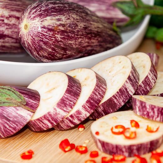 5斤装云南蔬菜花皮茄子 鲜嫩饱满 花色独特 云南特色产地现摘新鲜发货 商品图4
