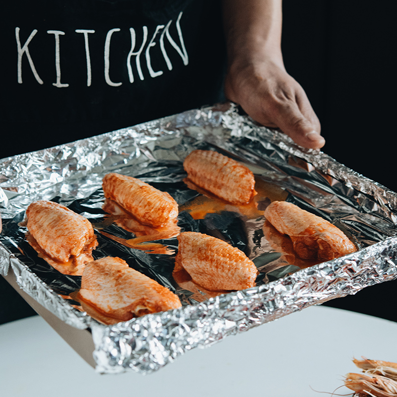 百钻锡纸 烤箱用耐高温加厚铝箔纸 烧烤花甲粉锡箔纸厨房烘焙工具 商品图1