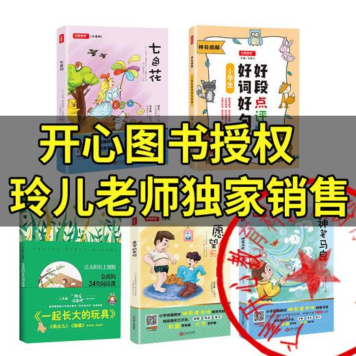 二年级下册快乐读书吧玩具/神笔/花/愿望+好词好句好段点评版全5册(玲儿老师) 商品图0