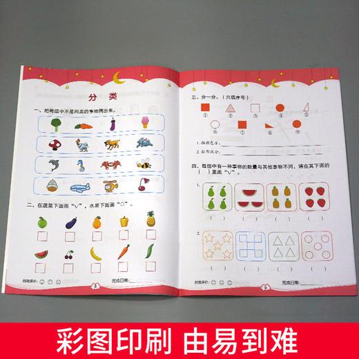 【开心图书】幼小衔接测试卷+数学启蒙专项训练全12册 (618活动送蜡笔1盒) 商品图11