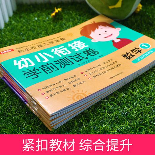 【开心图书】幼小衔接测试卷+数学启蒙专项训练全12册 (618活动送蜡笔1盒) 商品图5