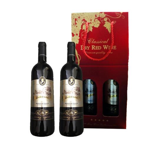 法国路易皇廷干红葡萄酒礼盒  750ml*2 内含路易皇廷子爵干红葡萄酒750 ml一支 路易皇廷伯爵干红葡萄酒750 ml一支 商品图0