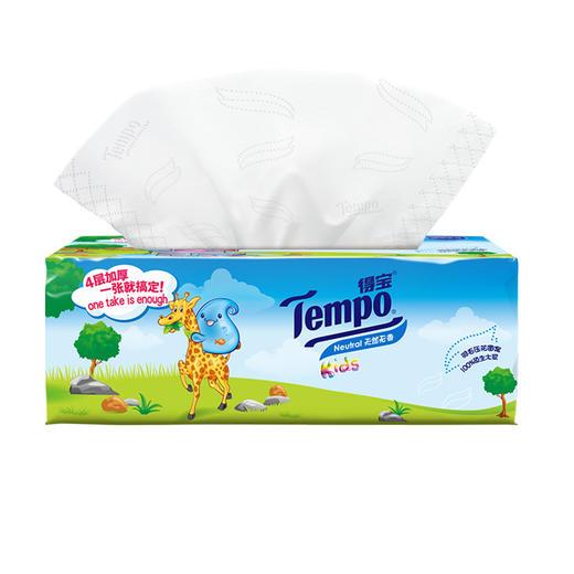 Tempo得宝软抽纸巾婴儿专用4层加厚90抽18包整箱装纸巾 商品图3