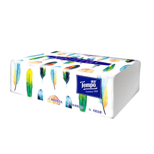 Tempo得宝软抽纸巾 Mini系列4层加厚80抽18包整箱装 商品图4