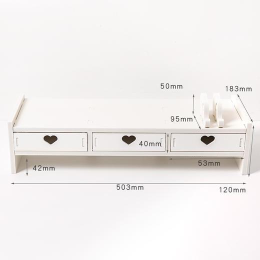 【为思礼】电脑显示屏增高架子学生书架办公室桌面键盘收纳整理垫高置物架 商品图8