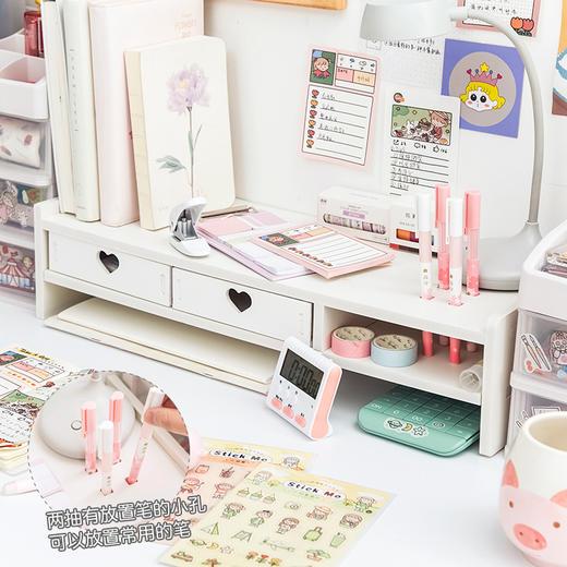 【为思礼】电脑显示屏增高架子学生书架办公室桌面键盘收纳整理垫高置物架 商品图3