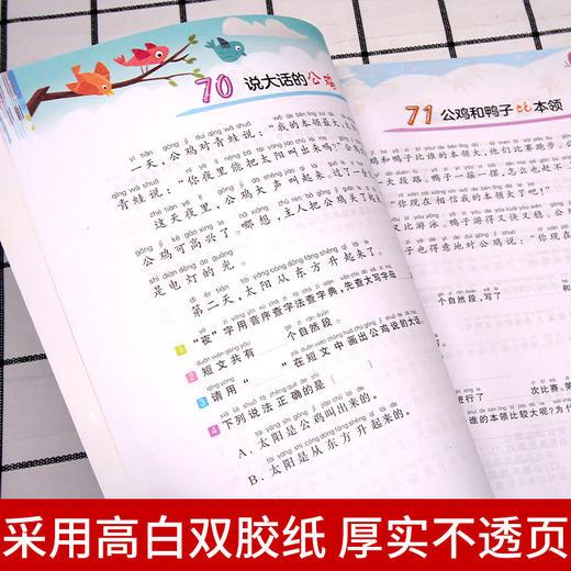 【开心图书】1年级阶梯阅读训练全彩版+阅读真题80篇+拼音标点常考文学常识大全+送:7岁笨狼学作文 商品图3