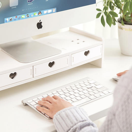 【为思礼】电脑显示屏增高架子学生书架办公室桌面键盘收纳整理垫高置物架 商品图2