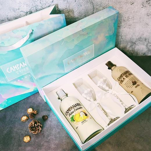 [卡裴娜梦幻微醺礼盒]卡裴娜利口酒 700ml*2瓶(两种组合可选)+蕾丝蝴蝶高脚杯*2 商品图0