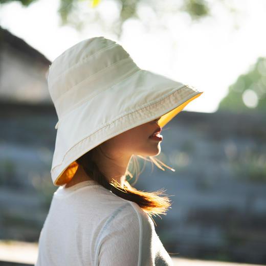 【火爆 INS的双色遮阳帽!谁带谁脸小】出街百搭利器,抗紫外线男女款防晒帽,轻便可折叠易携带 商品图5