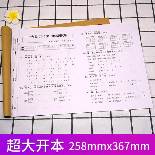 【开心图书】1-6年级上下册语文+数学+英语复习冲刺试卷全系列 商品图5