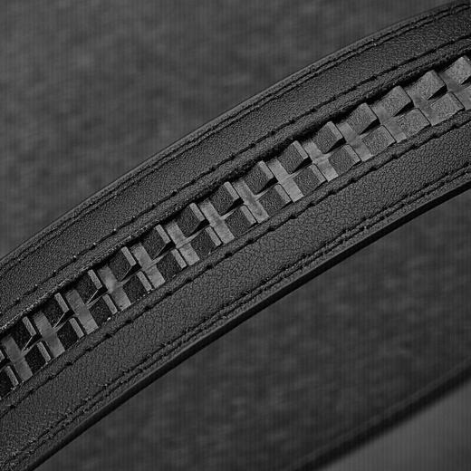 七匹狼男士皮带潮流百搭中青年牛皮自动扣腰带男休闲商务裤腰带M73821A807-01 黑色 商品图4