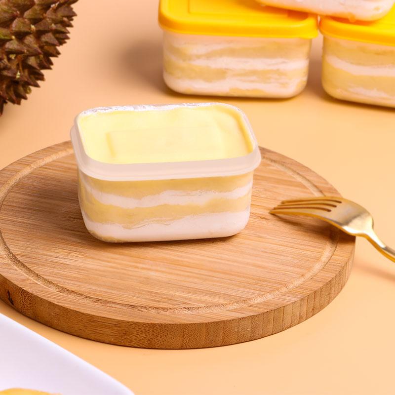 [3盒装 榴莲冰淇淋千层盒子] 果肉丰富 口感细腻 120g/盒 商品图2