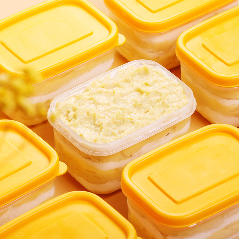 [3盒装 榴莲冰淇淋千层盒子] 果肉丰富 口感细腻 120g/盒 商品图0