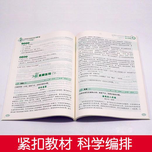 【开心图书】1-6年级下册全彩语文数学英语期末冲刺试卷+限时送双色版语文阶梯阅读 A 商品图13