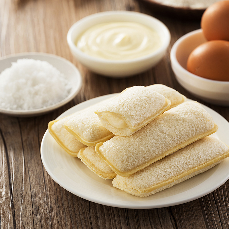 [乳酸菌夹心小口袋面包]奶味香醇 松软绵香 420g/箱 商品图3
