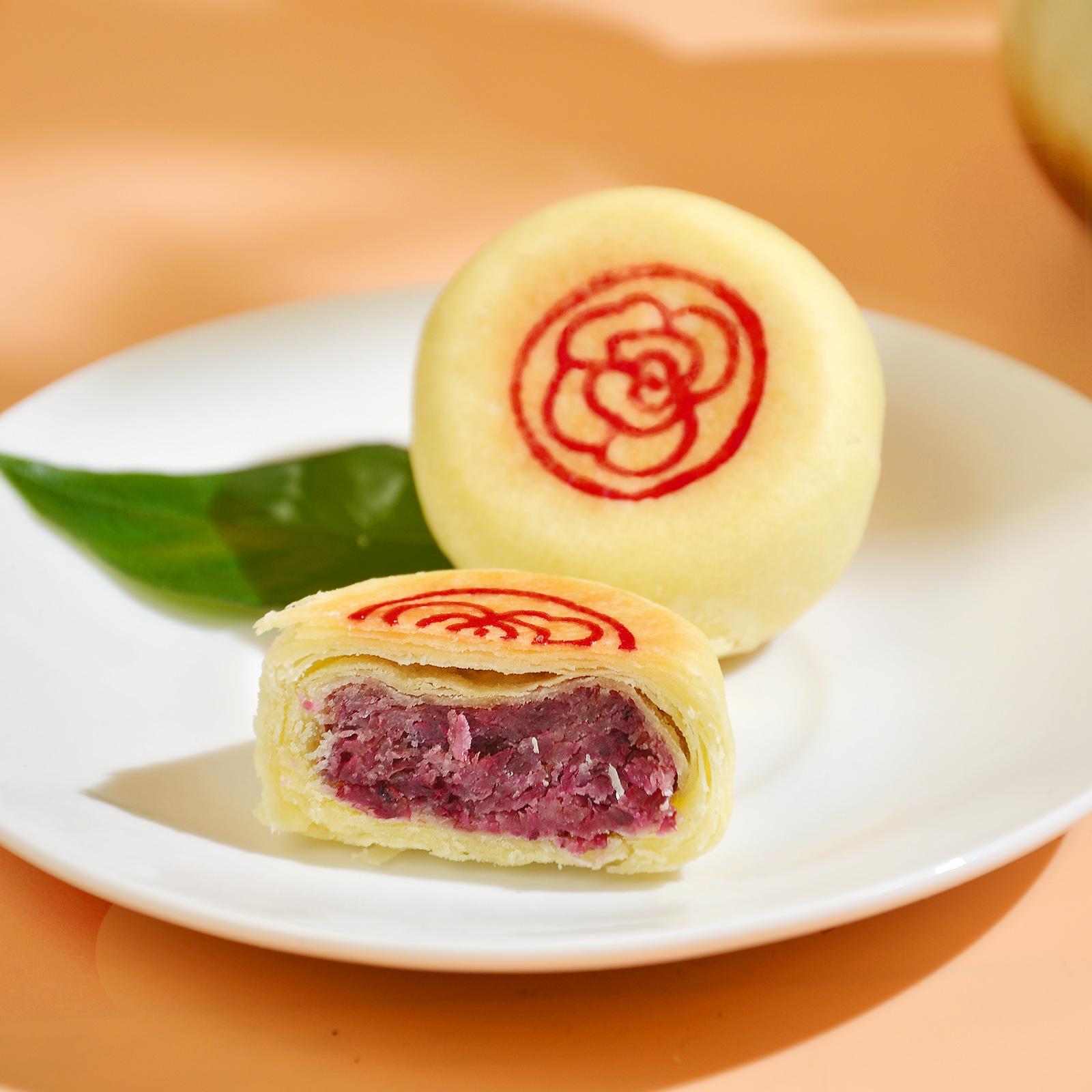 [原味玫瑰花饼]外皮香软 口感清爽 280g/盒(8个) 商品图0
