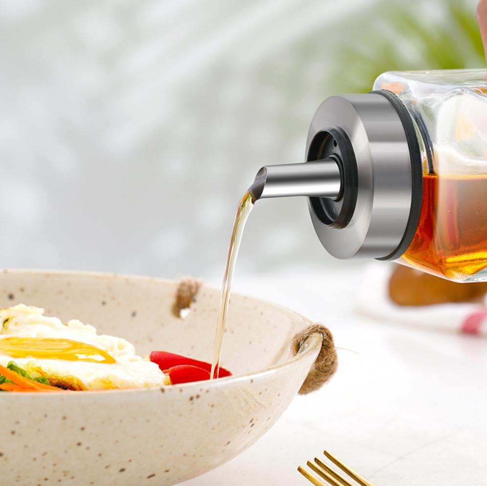 【油壶】油壶防漏玻璃油瓶家用不锈钢嘴小号调味瓶酱香油小醋瓶罐厨房用品 商品图1
