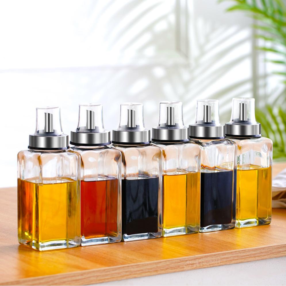 【油壶】油壶防漏玻璃油瓶家用不锈钢嘴小号调味瓶酱香油小醋瓶罐厨房用品 商品图2