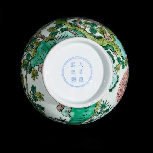 皇窑 | 仿清康熙米黄釉五彩玉堂富贵玉壶春瓶 商品图3