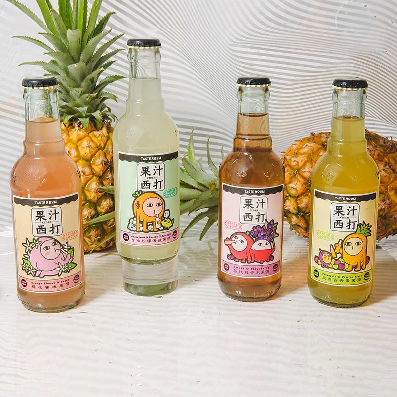 [Tasteroom果汁西打组合装] 西柚/凤梨/荔枝/蜜桃多种口味 商品图0