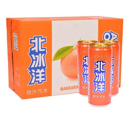 【半价特惠】江浙沪包邮 北冰洋汽水330ml 14.9元 6罐装  口味:橙汁,桔汁 商品图2