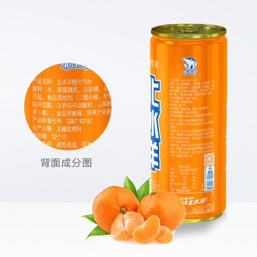 【半价特惠】江浙沪包邮 北冰洋汽水330ml 14.9元 6罐装  口味:橙汁,桔汁 商品图1